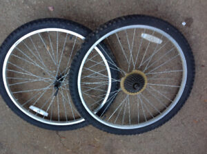 """24""""D and 26""""D wheels front and rear - $15 each"""