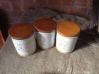 A SELECTION OF KITCHEN JARS