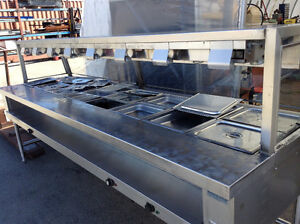 Ice Cold Sandwich/Cold table and Large Steam Table With Inserts