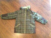 Green coat/snow pants