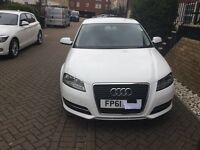 AUDI A3 1.6cc 61REG 2011- 5 door petrol in white