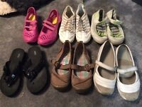 6 pairs various ladies/girls casual shoes size 3