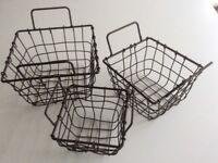 Set 3 wire baskets