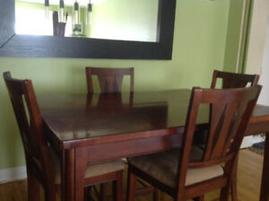 Used bistro table for sale with 4 Bistro chairs included