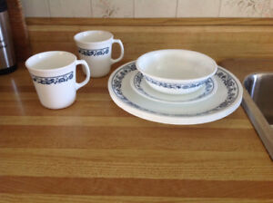 Old Town Blue Corelle Dishes