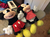 Disney mickey mouse & minnie mouse Plush 3D Backpack