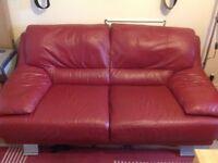 Reid Furniture 3 + 2 + footstool Lazio Leather Suite