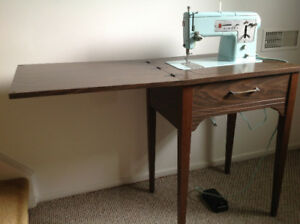 In table vintage sewing machine