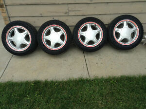 Fox Body Pony Rims with Good Year Eagle GT tires Regina Regina Area image 1