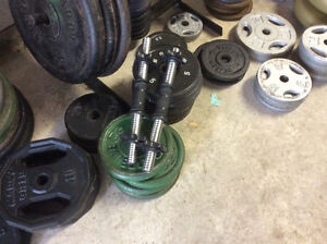 Dumbells - you make your own. - 50 cents a pound firm