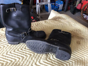 Biker Style Leather Boots