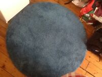 Blue IKEA circular rug for sale