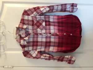 Justice girl plaid button up shirt