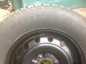 15 inch defender radial tire and rim