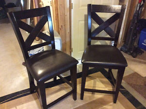 Solid wood bar/counter chairs