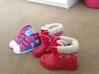 Two new kids size 12 boots