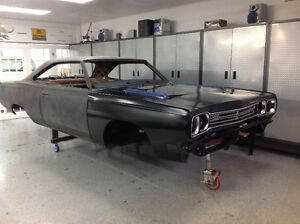 69 Roadrunner project ready for paint.