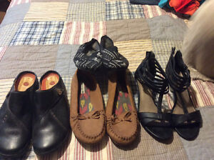 Six pairs of women's shoes all fit like a 9