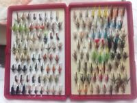 Set of assorted flies for fly fishing