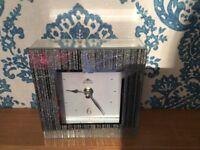 Glitter mirror clock