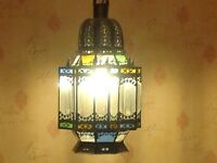 Middle Eastern stained glass lampshade