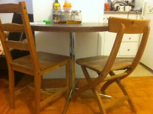 Dining table with two chairs - $90