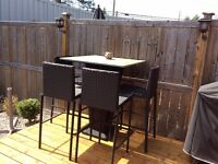 Bar table with 4 chairs