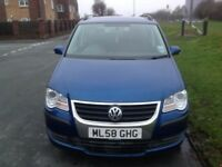 Volkswagen Touran 1.9TDI ( 105PS ) ( 7st ) 2008MY SE PEARL BLUE and warranty available