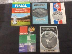Man City vintage programmes