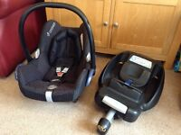 Maxi Cosi - Cabriofix infant Car Seat and Easyfix isofix base