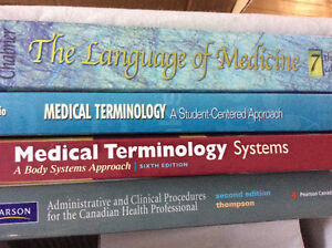MEDICAL TERMINOLOGY TEXTBOOKS - MUST SELL THIS WEEKEND