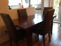 Marks and Spencer leather dining chairs