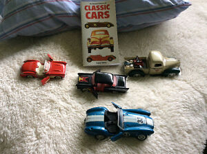 Classic car book and four cars