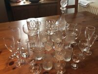 Decanter and Assorted glasses