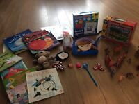 Toys and children's books