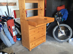 convertible change table/dresser with book shelf