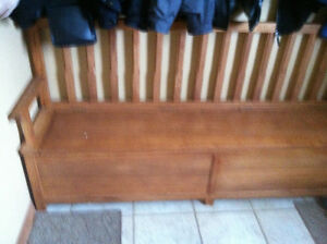 Hickory Shoe Bench