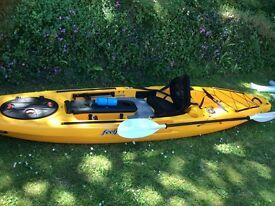 Feelfree Moken angler 12.5.top range kayak,used twice,new condition,ideal crimbo present