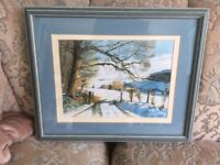 Water Colour painting Signed By the Artist Robert Parkin Thornton Le Dale