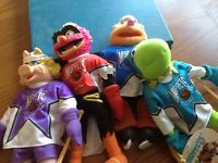 Four Collectible Hockey MUPPETS dolls