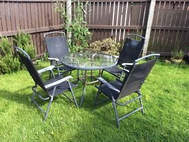 Patio set chairs and table