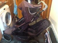 Phil and Teds Pushchair with doubles kit and rain cover