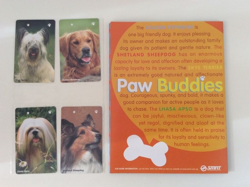Paw Buddies SMRT TransitLink cards