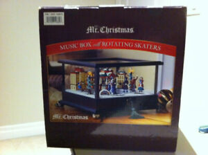Mr Christmas - New Music Box with Rotating Skaters