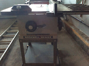 """Cast iron ROCKWELL TABLE SAW 10"""""""