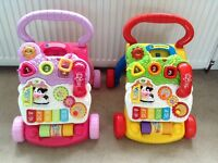 2 x Vtech First Steps Baby Walkers