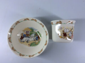Bunnykins Royal Doulton Classic Bowl & Cup Set