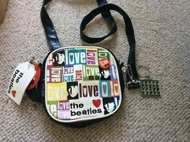 Beatles love me do bag with key ring