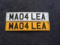 Private number plate. MA04 LEA