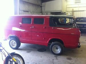 66 chevy van with 327 and chopped 6 inchs
